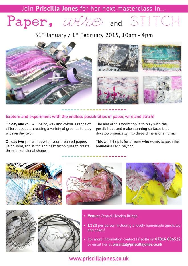 Priscilla Jones - Paper, Wire and Stitch (Jan Feb 2015)